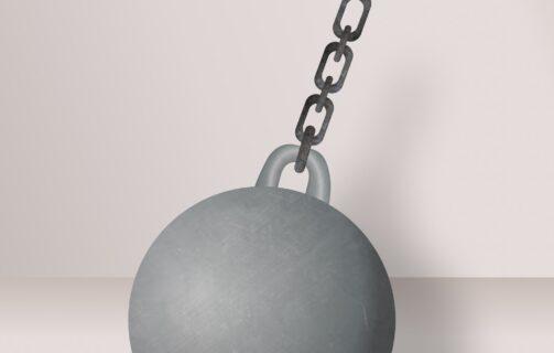 3D Iron Ball Asset